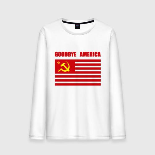 Мужской лонгслив хлопок Goodbye America