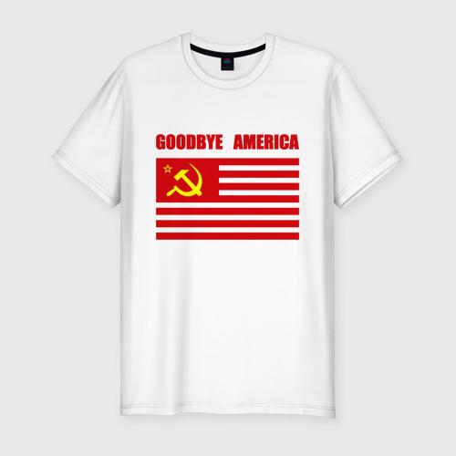 Мужская футболка хлопок Slim Goodbye America