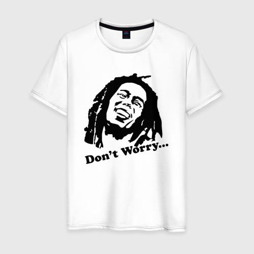 Мужская футболка хлопок Bob marley-don\'t worry
