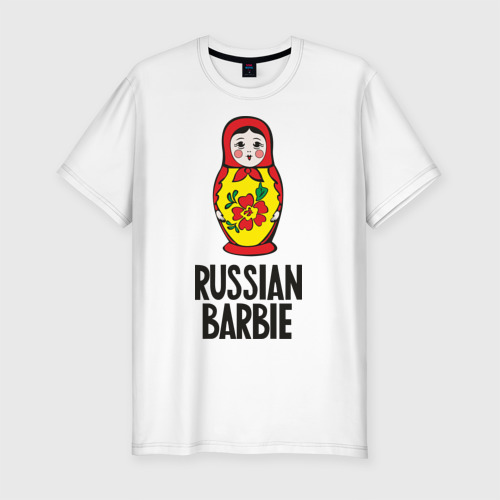 Мужская футболка хлопок Slim Russian Barbie