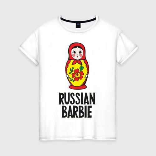 Женская футболка хлопок Russian Barbie