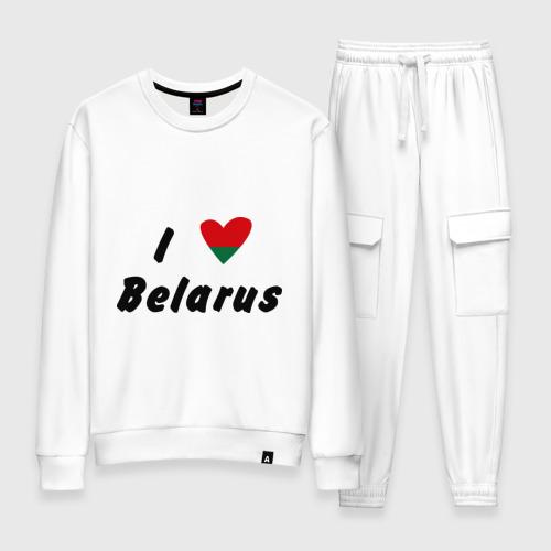 Женский костюм хлопок I love Belarus