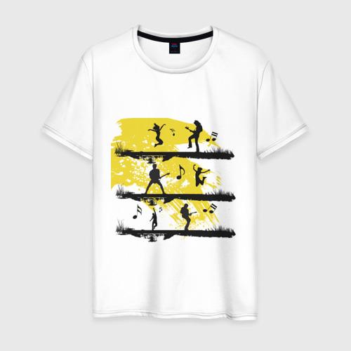 Мужская футболка хлопок Музыка - это жизнь