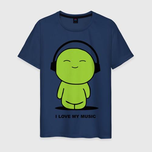 Мужская футболка хлопок I Love My Music