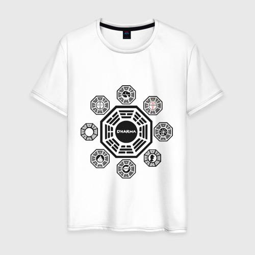 Мужская футболка хлопок LOST - Все станции Dharma