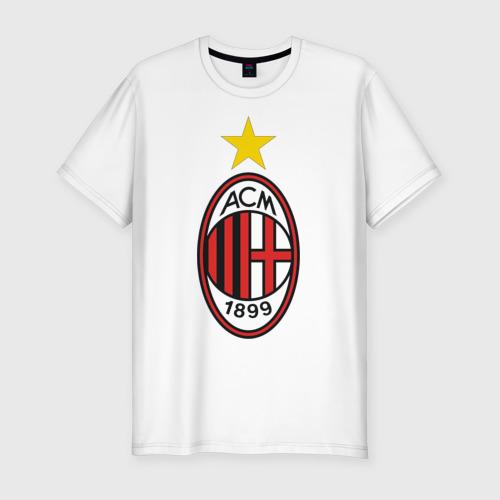 Мужская футболка хлопок Slim Italian Serie A. AC Milan