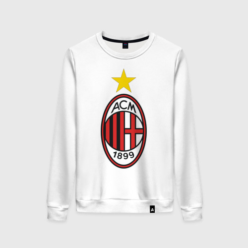 Женский свитшот хлопок Italian Serie A. AC Milan