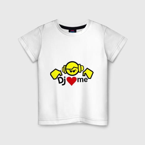 Детская футболка хлопок Dj love me