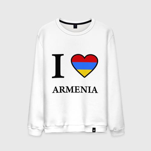 Мужской свитшот хлопок I love Armenia