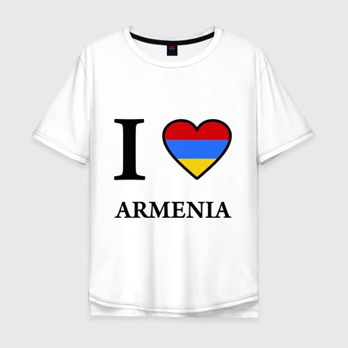 Мужская футболка хлопок Oversize I love Armenia