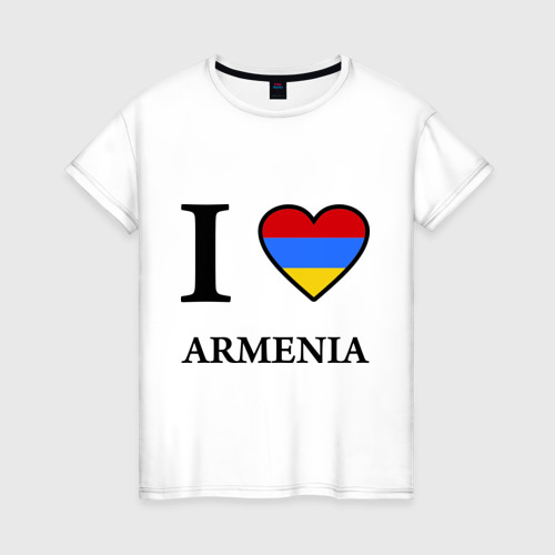 Женская футболка хлопок I love Armenia