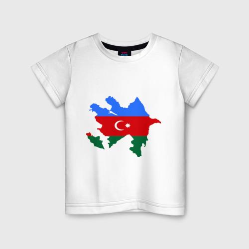 Детская футболка хлопок Azerbaijan map