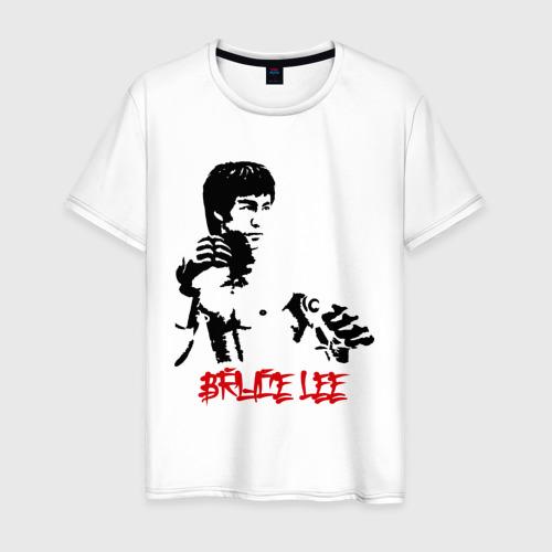 Мужская футболка хлопок Брюс ли (5)
