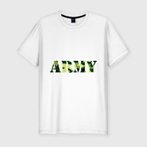 Мужская футболка хлопок Slim Army