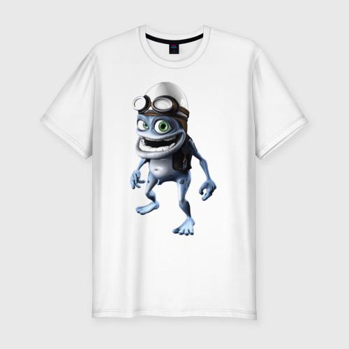 Мужская футболка хлопок Slim Crazy frog