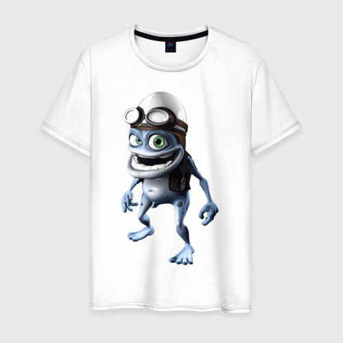 Мужская футболка хлопок Crazy frog
