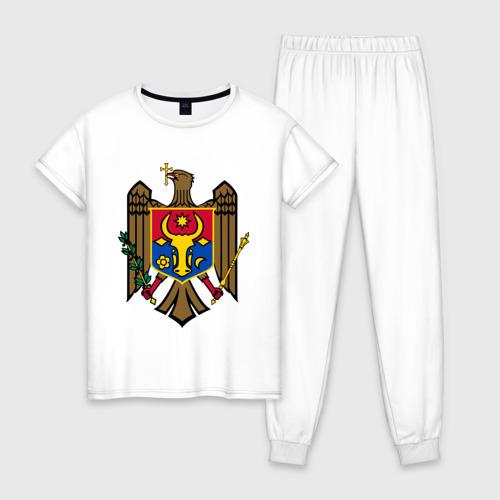 Женская пижама хлопок Молдавия герб