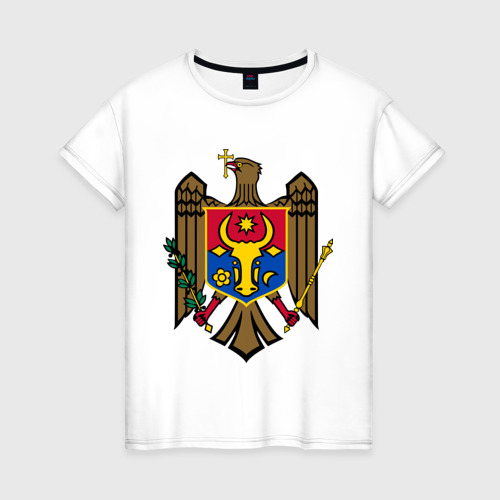 Женская футболка хлопок Молдавия герб