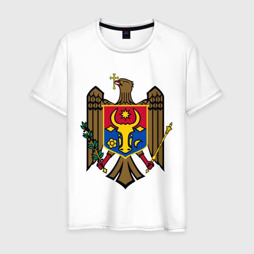 Мужская футболка хлопок Молдавия герб