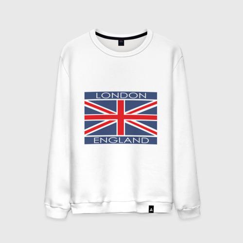 Мужской свитшот хлопок London - Лондон с флагом Англии