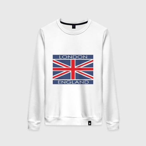 Женский свитшот хлопок London - Лондон с флагом Англии