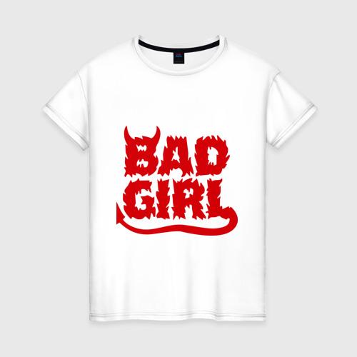 Женская футболка хлопок Bad girl (5)