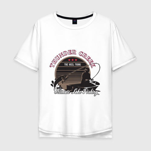 Мужская футболка хлопок Oversize Ultimate Lake Fishing