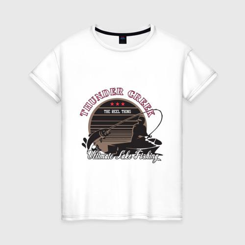 Женская футболка хлопок Ultimate Lake Fishing