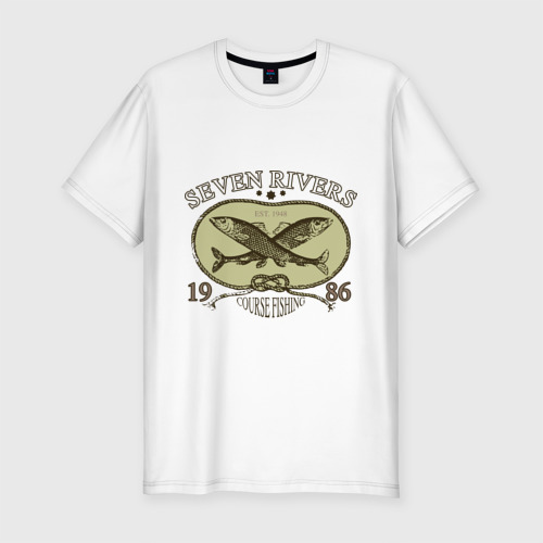 Мужская футболка хлопок Slim Seven rivers