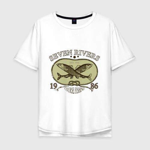 Мужская футболка хлопок Oversize Seven rivers