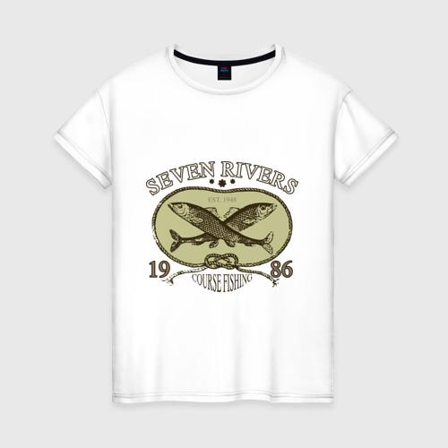 Женская футболка хлопок Seven rivers