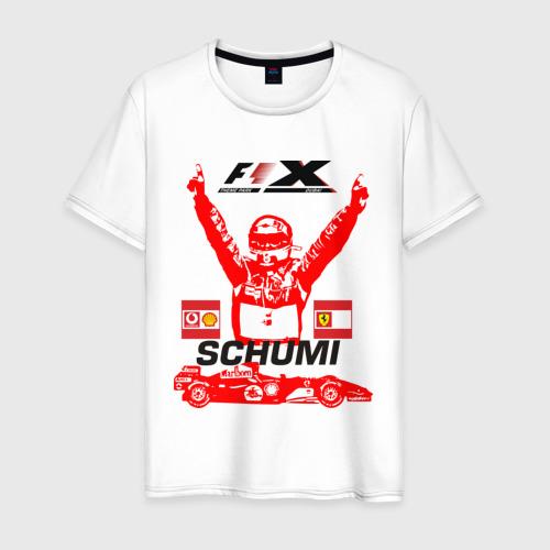 Мужская футболка хлопок F1 X  Schumaher