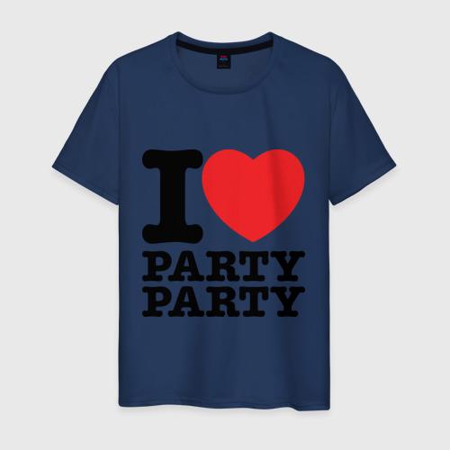 Мужская футболка хлопок I Love Party