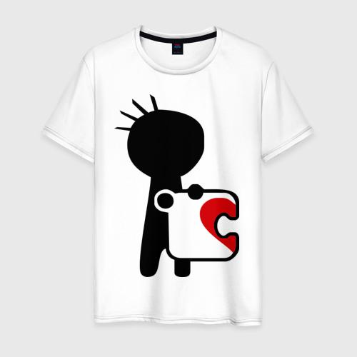 Мужская футболка хлопок Сердце на двоих (мужская)