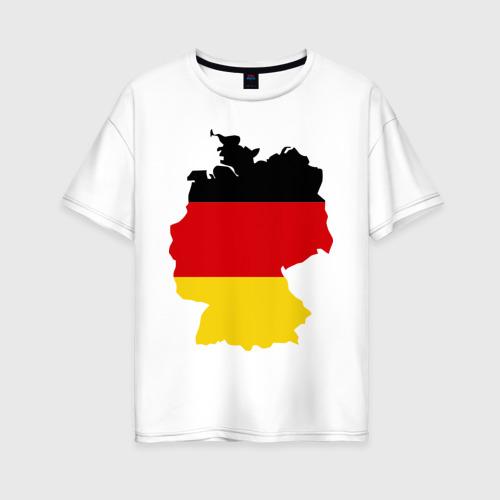 Женская футболка хлопок Oversize Германия (Germany)