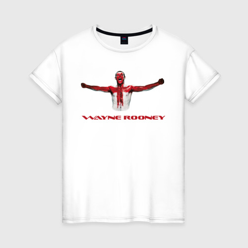 Женская футболка хлопок Wayne Rooney