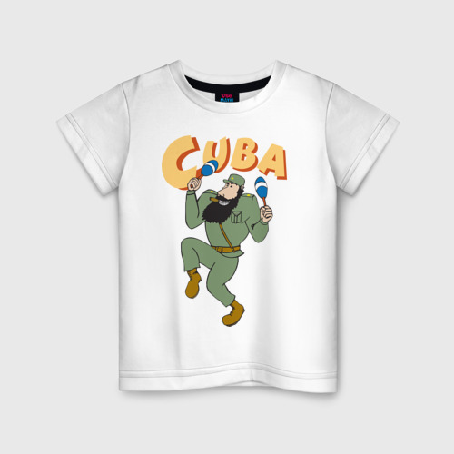 Детская футболка хлопок Cuba - Fidel Castro