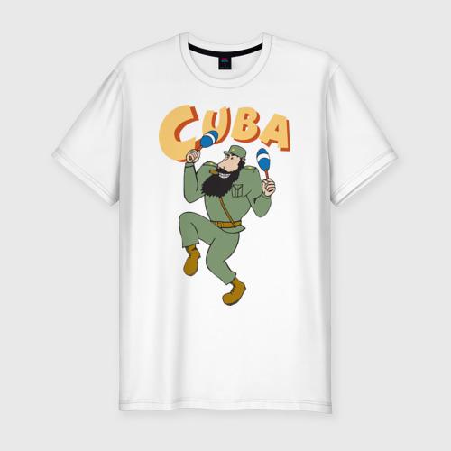 Мужская футболка хлопок Slim Cuba - Fidel Castro