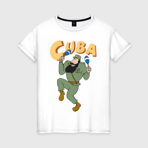 Женская футболка хлопок Cuba - Fidel Castro