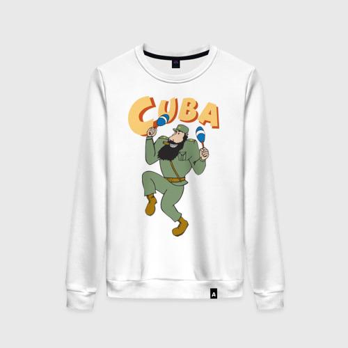 Женский свитшот хлопок Cuba - Fidel Castro