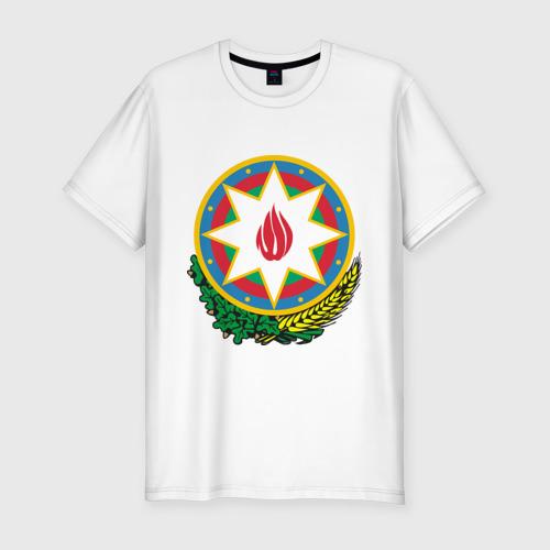 Мужская футболка хлопок Slim Герб Азербайджана