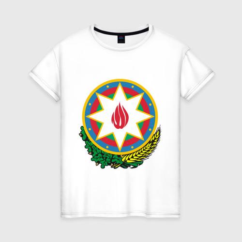Женская футболка хлопок Герб Азербайджана