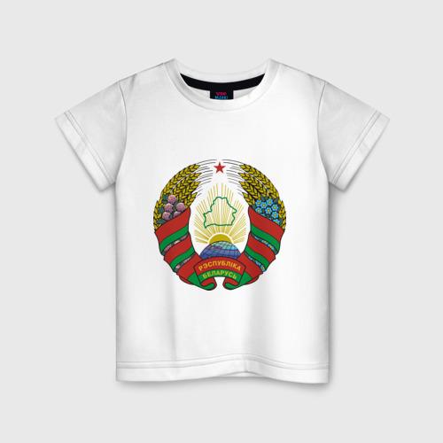 Детская футболка хлопок Белоруссия герб