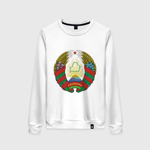 Женский свитшот хлопок Белоруссия герб