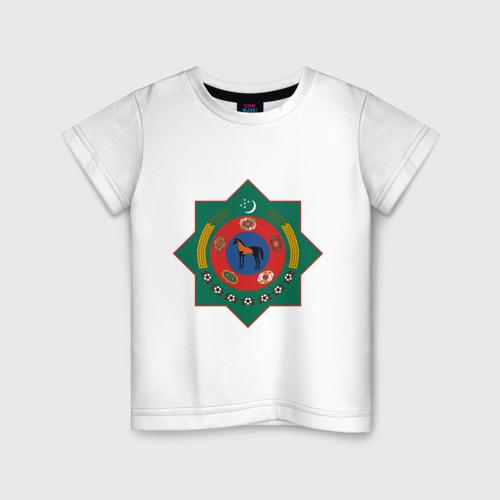 Детская футболка хлопок Туркмения герб