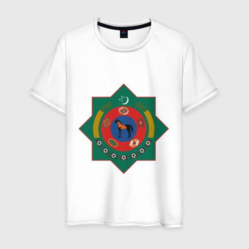 Мужская футболка хлопок Туркмения герб