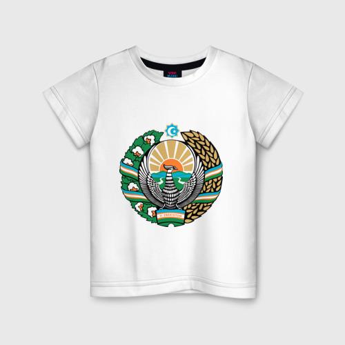 Детская футболка хлопок Узбекистан герб