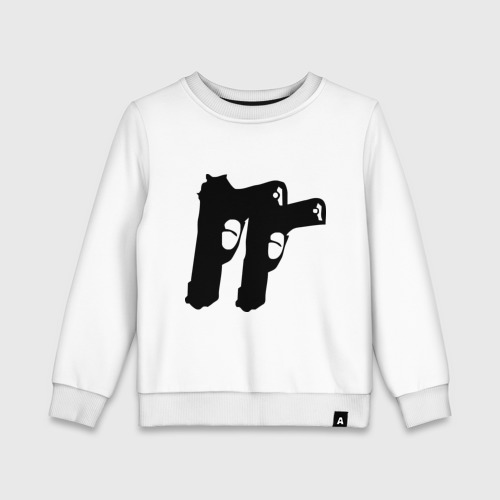 Детский свитшот хлопок Пистолеты