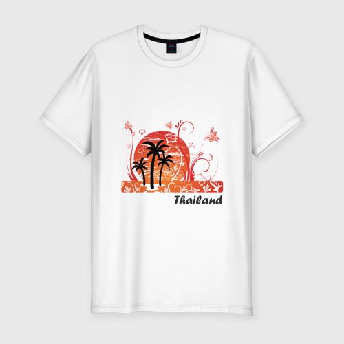 Мужская футболка хлопок Slim Thailand