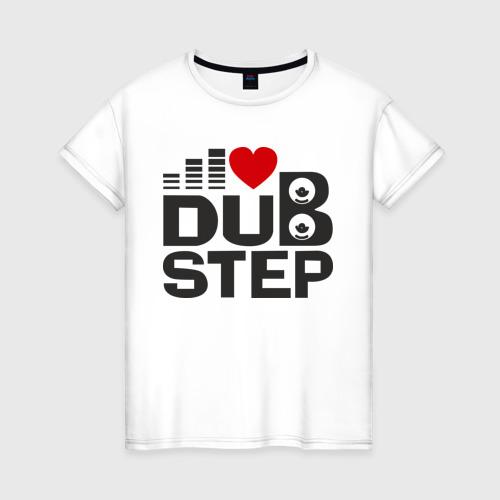 Женская футболка хлопок Dubstep love